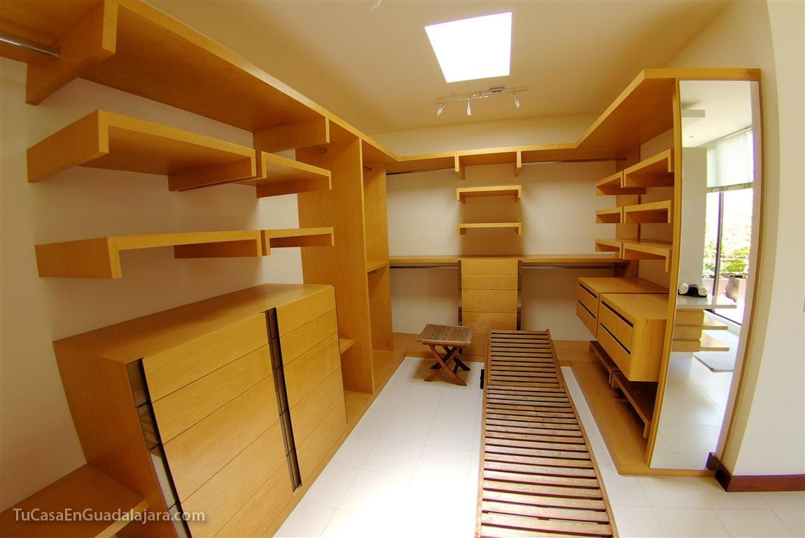 closets vestidores de casas construidas en guadalajara